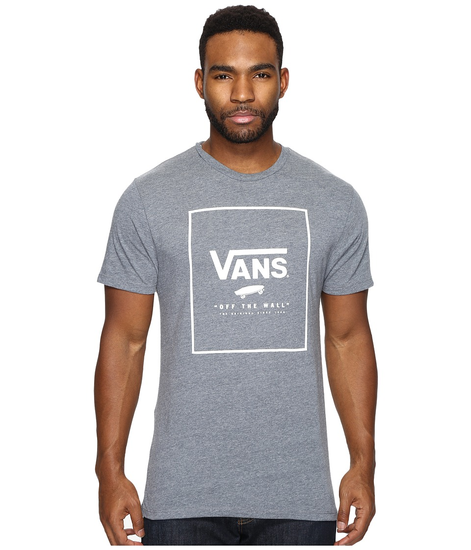 Vans Print Box Tee (Heather Grey/White) Men