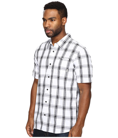 Vans stafford short sleeve woven white black modesens for Stafford white short sleeve dress shirts