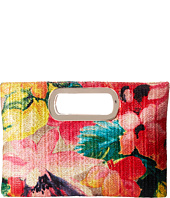 Jessica McClintock - Tiffany Printed Floral Straw Handle Clutch
