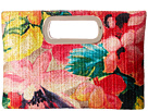 Jessica McClintock - Tiffany Printed Floral Straw Handle Clutch