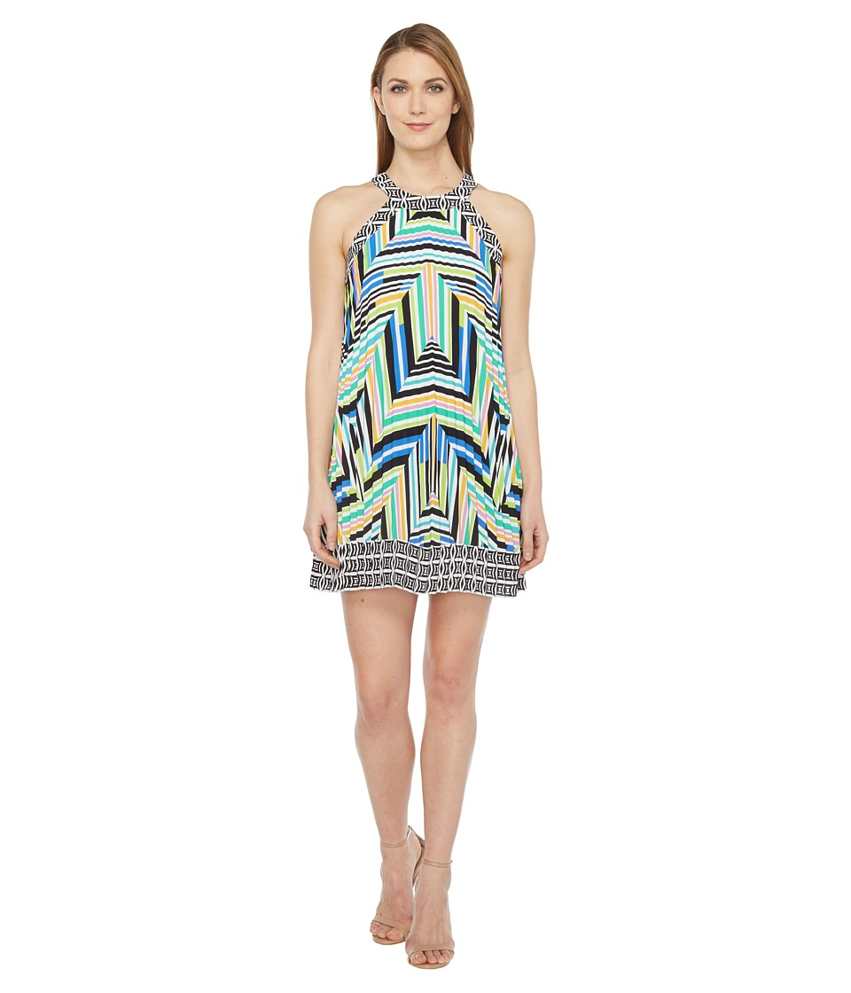Laundry by Shelli Segal Printed Pleated Halter Dress (Blarney) Women