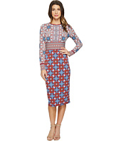 Maggy London - Tile Medallion Jersey Sheath Dress