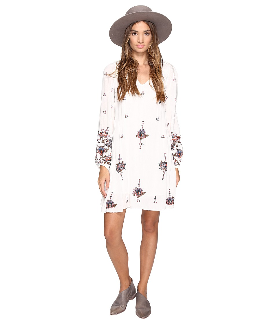 Free People Oxford Embroidered Mini (Neutral Combo) Women