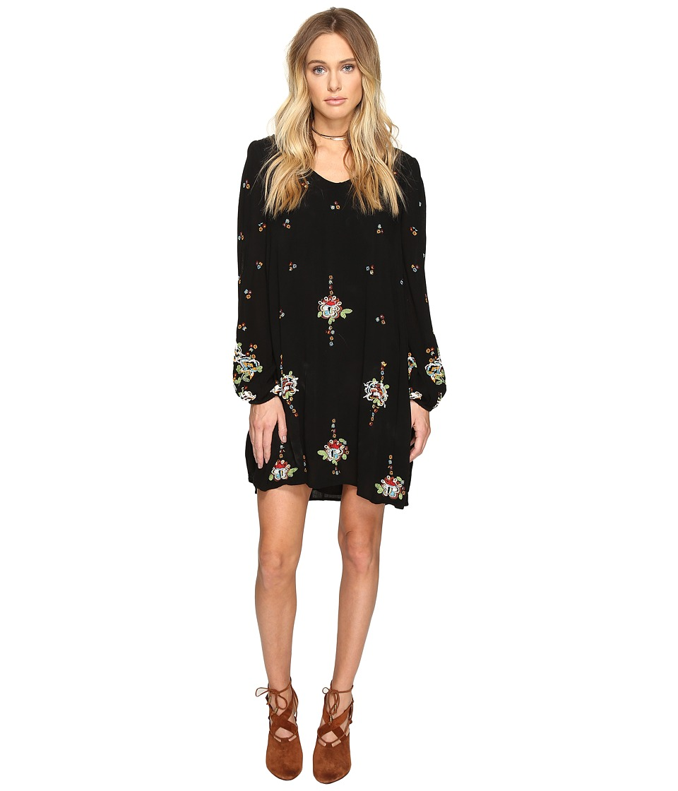 Free People Oxford Embroidered Mini (Black Combo) Women