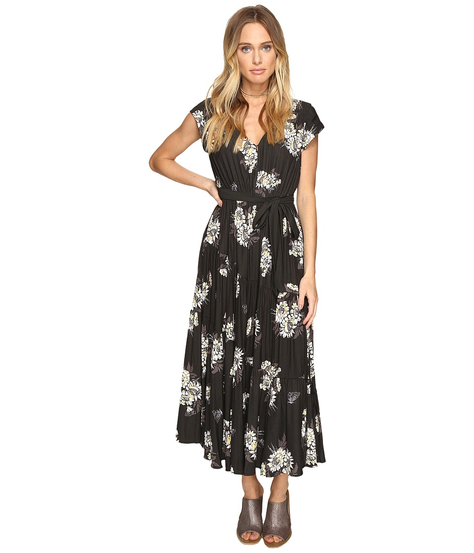 Free People All I Got Printed Maxi (Black Combo) Women