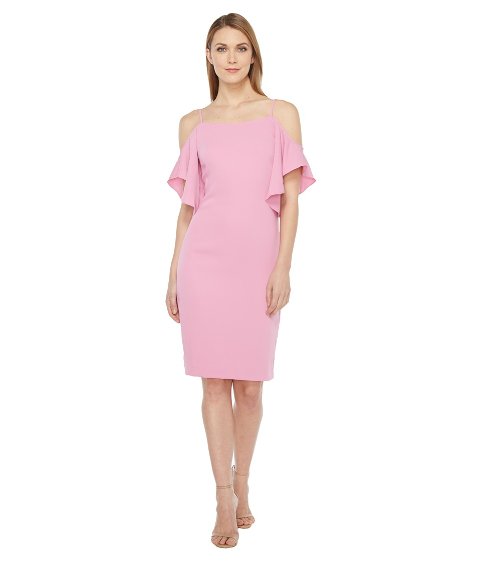 Laundry by Shelli Segal Off the Shoulder w/ Flutter Sleeve Cocktail Dress (Crocus) Women