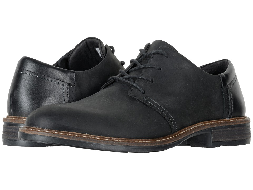 Naot Footwear Chief (Oily Coal Nubuck/Black Raven Leather/Onyx Leather) Men
