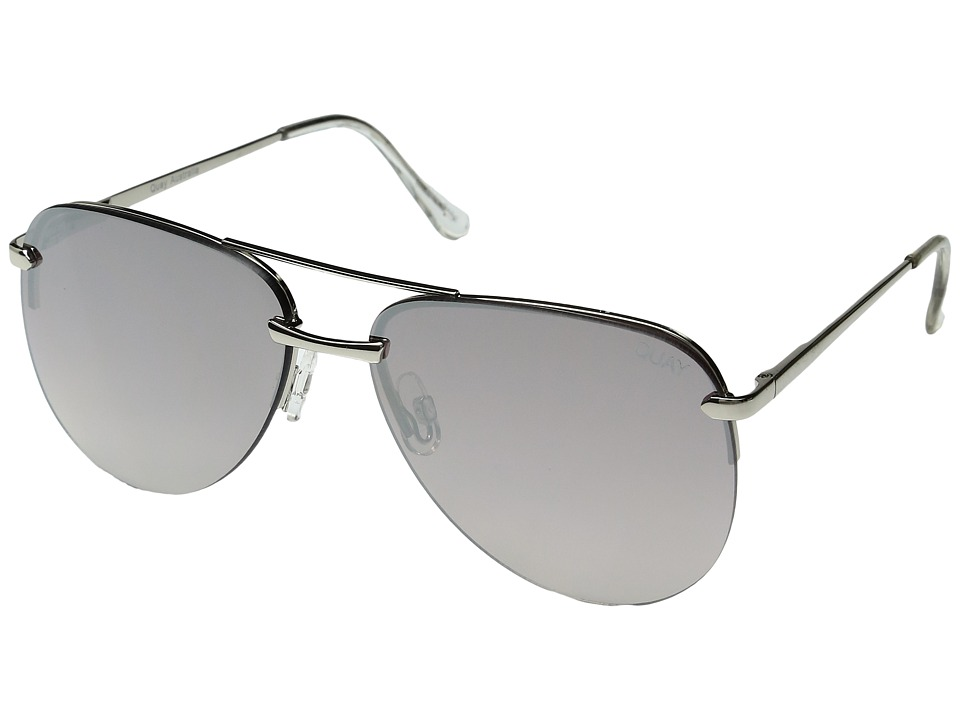 QUAY AUSTRALIA The Playa (Silver/Silver) Fashion Sunglasses