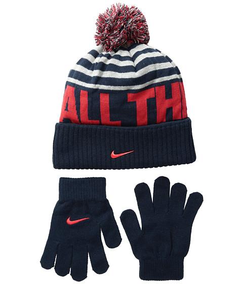 Nike Kids Attitude Knit Beanie & Gloves Set (Big Kids)