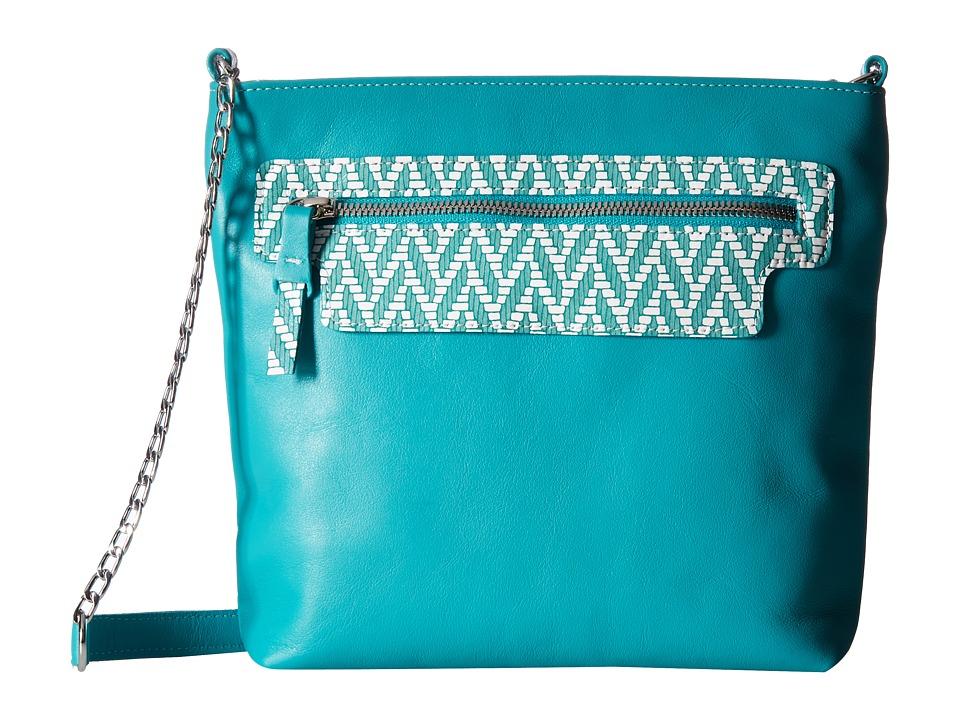 SAS - Giselle (Turquoise/Chevron) Handbags