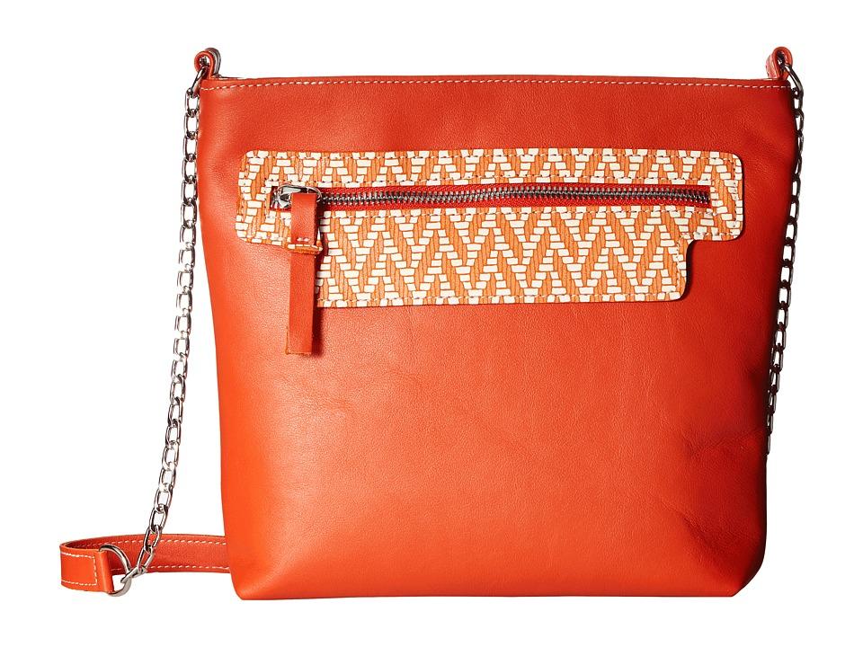 SAS Giselle (Orange/Chevron) Handbags