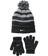 Nike Kids - Heather Stripe Beanie & Gloves Set (Big Kids)