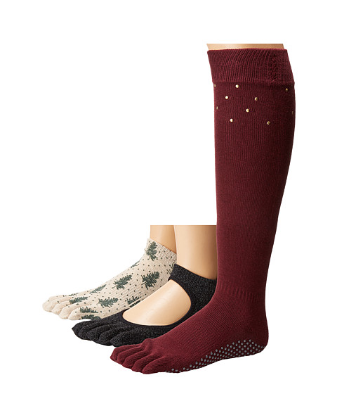 toesox Holiday Box Set Full Toe w/ Grip 3-Pack - Assorted