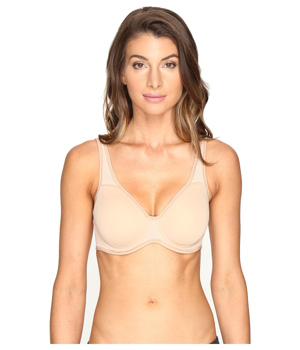 Le Mystere Mid- Impact Everyday Unlined Sports Bra (Natural) Women