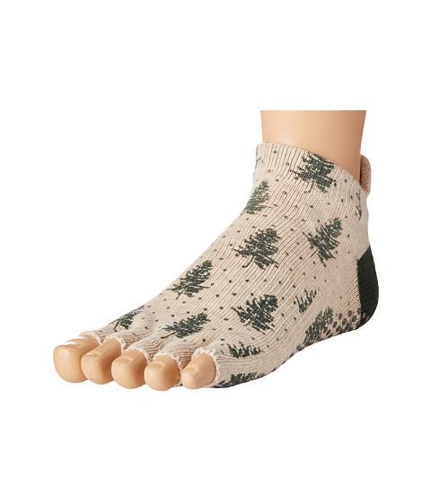 toesox Low Rise Half Toe w/ Grip - Evergreen