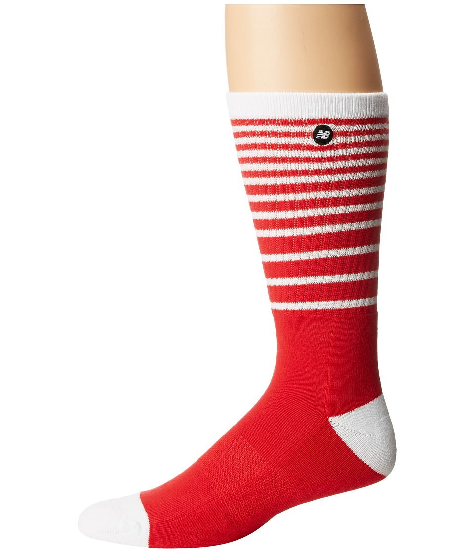 New Balance - N470 Summer Wave Fade Crew Socks (Red/White) Crew Cut Socks Shoes