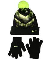 Nike Kids - Graphic Pom Beanie & Gloves Set (Big Kids)