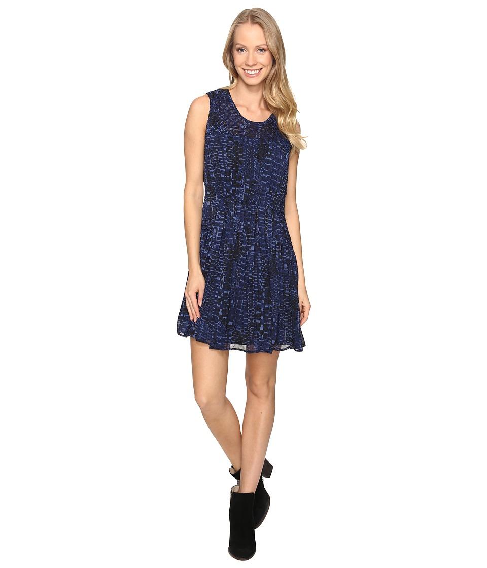 Lucky Brand Geo Print Dress (Blue Multi) Women