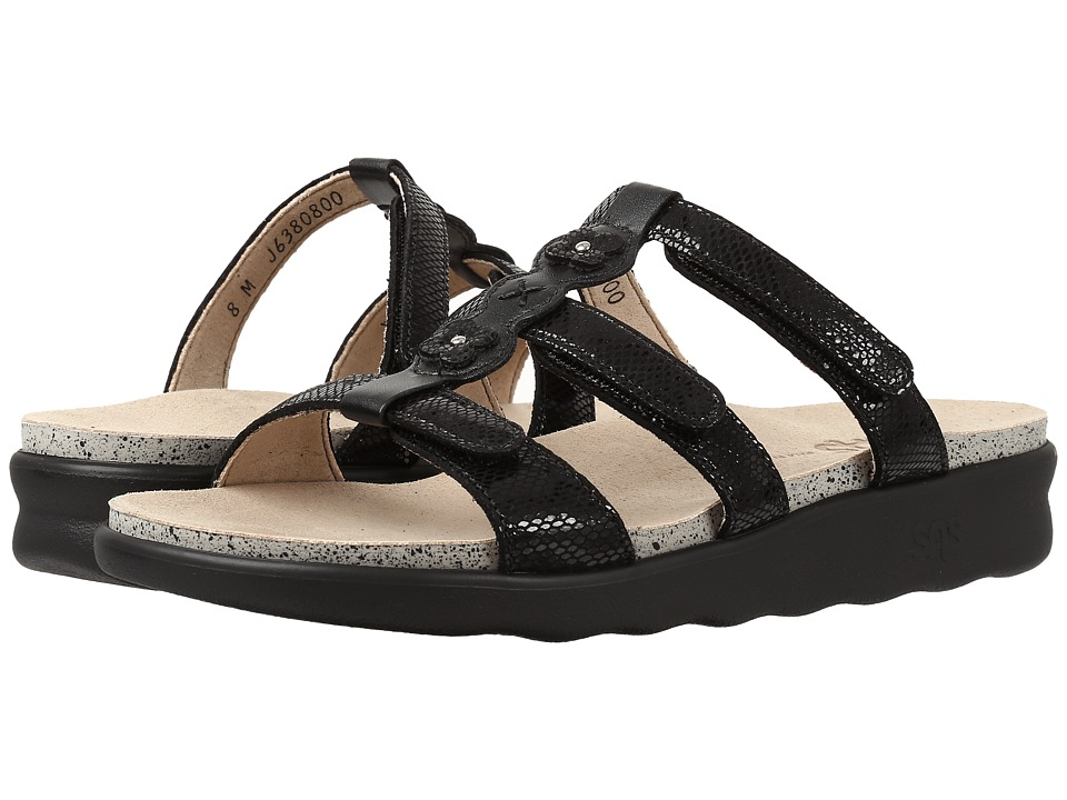 SAS - Naples (Black Snake) Women's Shoes