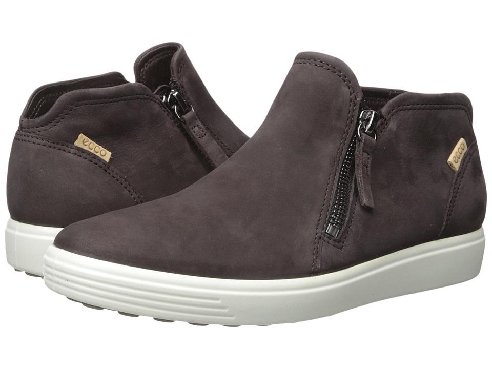 ECCO Soft 7 Low Cut Zip Bootie (Shale/Powder) Women's Shoes