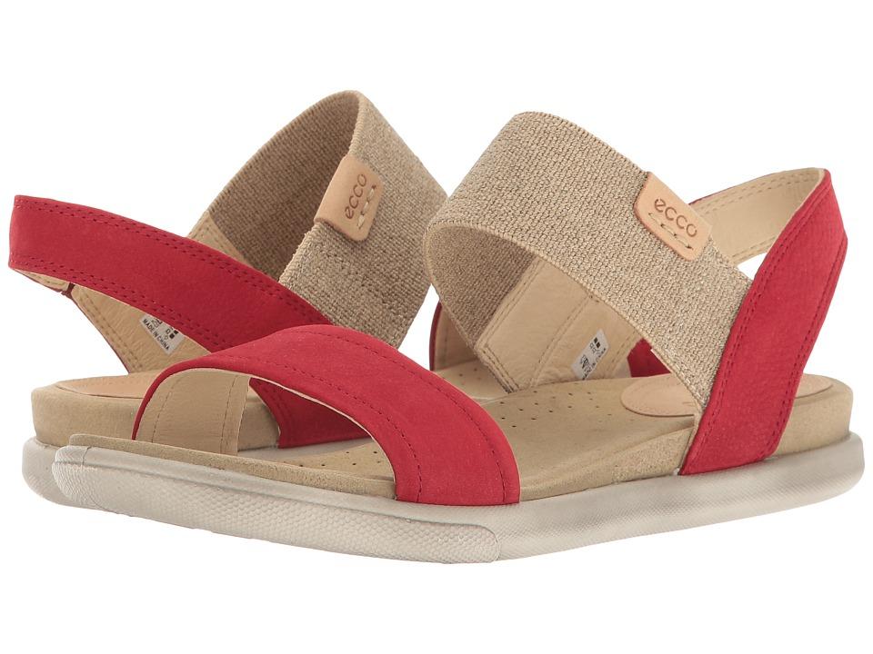 ECCO Damara Ankle Sandal (Chili Red/Powder) Sandals
