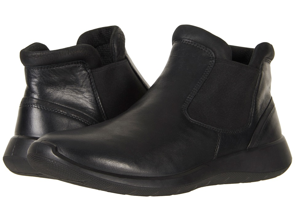 ECCO Soft 5 Low Chelsea (Black/Black) Women