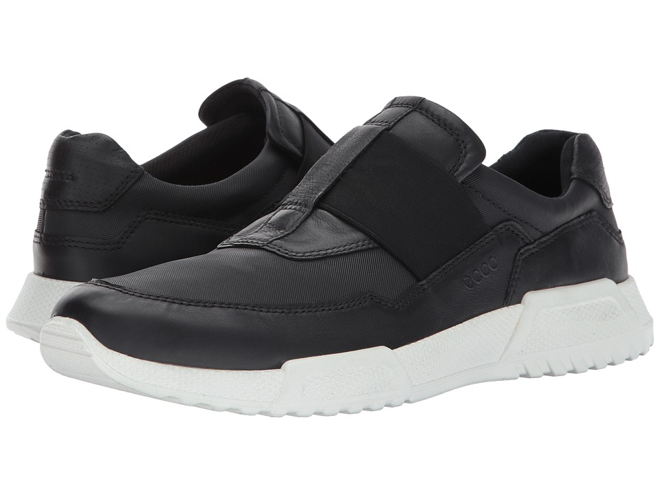 ECCO Luca Elastic Slip-On (Black/Black) Men