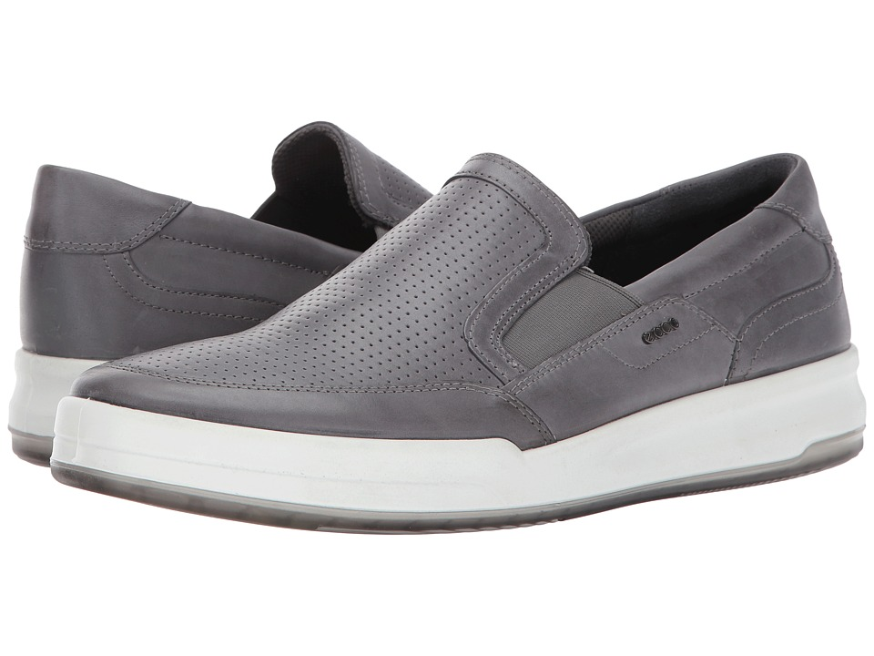 ECCO Jack Perforated Slip-On (Titanium) Men