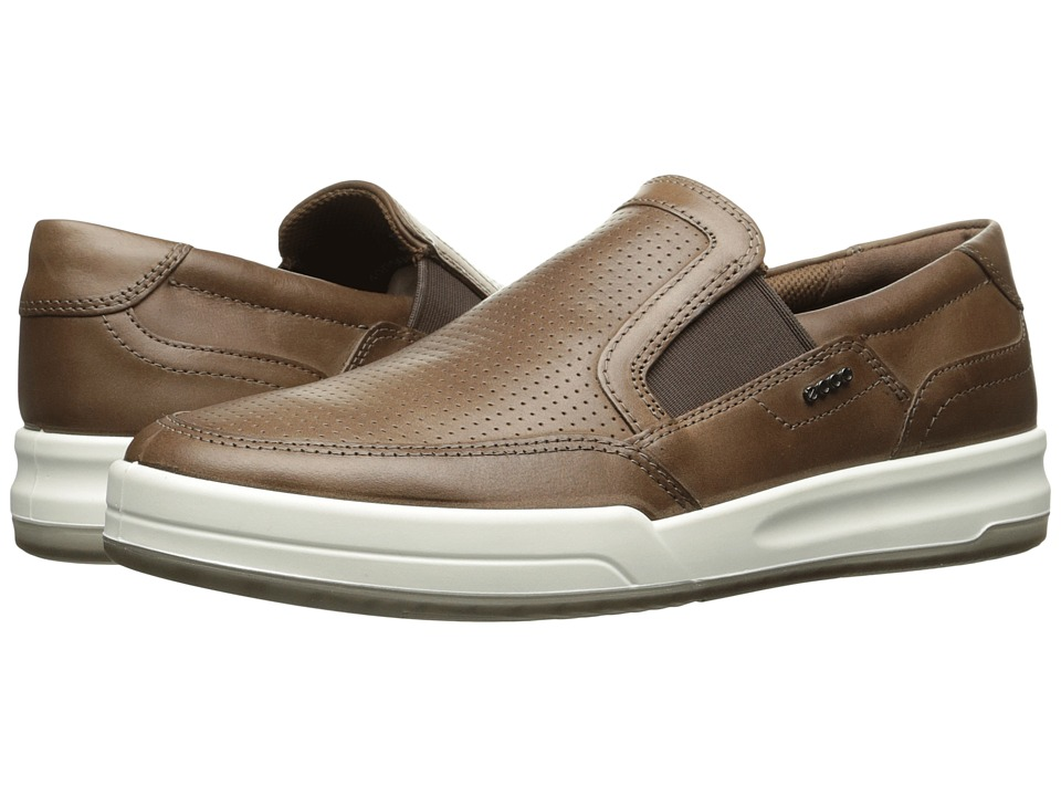 ECCO Jack Perforated Slip-On (Cocoa Brown) Men