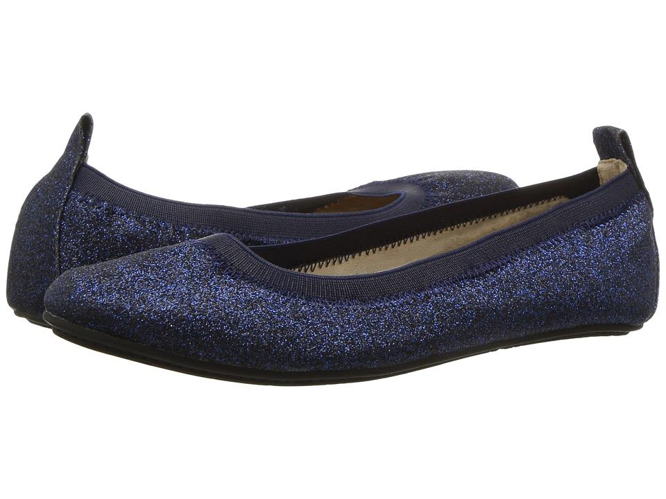Yosi Samra Kids - Miss Samara Glitter Ballet Flat (Toddler/Little Kid/Big Kid) (Sapphire Glitter) Girls Shoes
