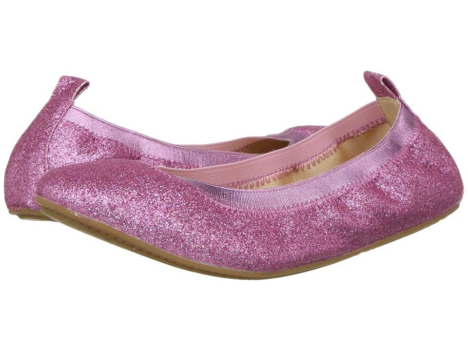Yosi Samra Kids Miss Samara Glitter Ballet Flat (Toddler/Little Kid/Big Kid) (Fuchsia Glitter) Girls Shoes