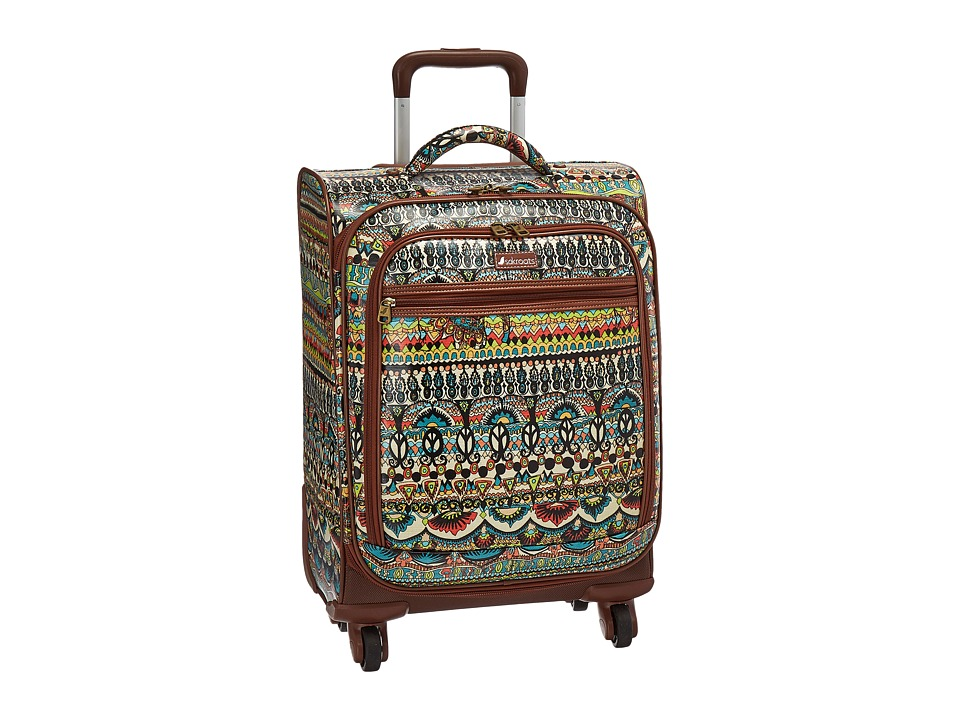 Sakroots Sak Roots Carry On Suitcase (Natural One World) Carry on Luggage