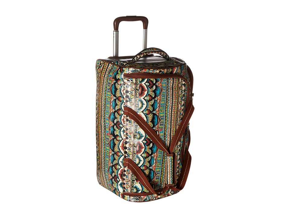 Sakroots Artist Circle Rolling Duffle (Natural One World) Duffel Bags