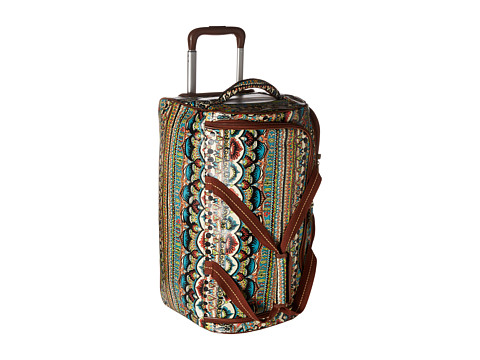 Sakroots Artist Circle Rolling Duffle - Natural One World
