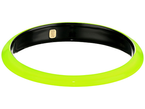 Alexis Bittar Tapered Bangle Bracelet - Neon Yellow Clear