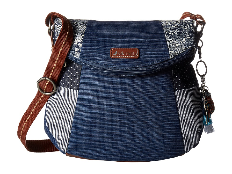 Sakroots - Artist Circle Foldover Crossbody (Navy Spirit Desert) Cross Body Handbags