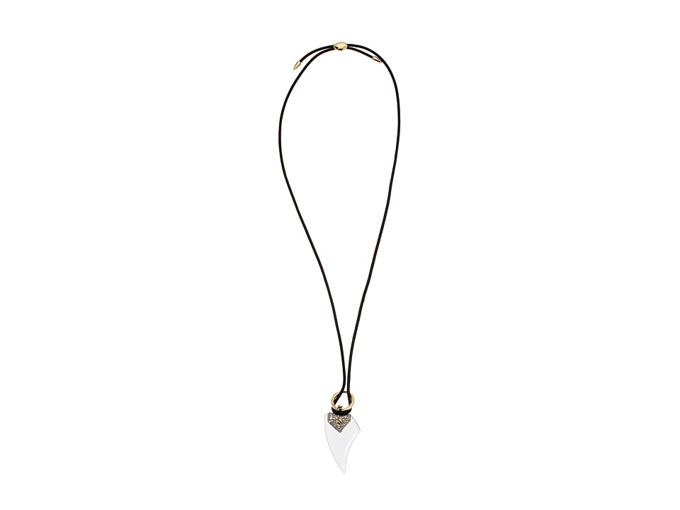 Alexis Bittar - Crystal Encrusted Abstract Petal Pendant with Adjustable Slide Closure Necklace
