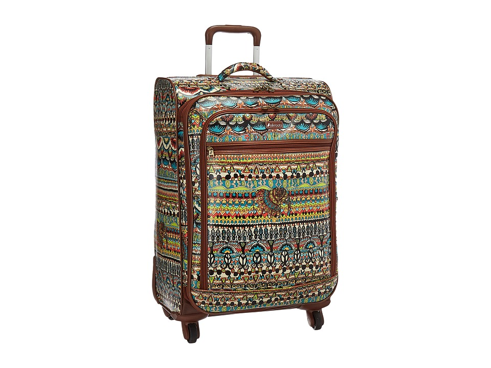 Sakroots Artist Circle 26 Suitcase (Natural One World) Carry on Luggage