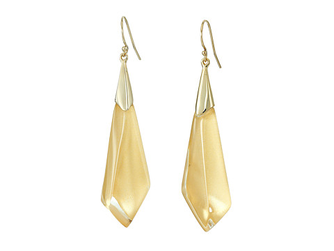 Alexis Bittar Faceted Wire Earrings - Polished Gold