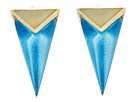 Faceted Pyramid Post Earrings