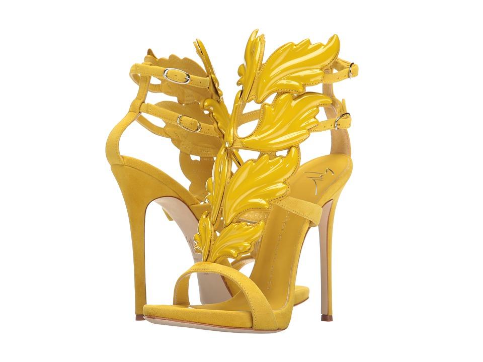 Giuseppe Zanotti Suede Winged Sandal (Cam Pulcino) Women