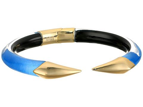 Alexis Bittar Mirrored Pyramid Brake Hinge Bracelet - Horizon Blue Clear
