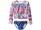 Seafolly Kids Mermaidia Cropped Rashie Set (Toddler/Little Kids)
