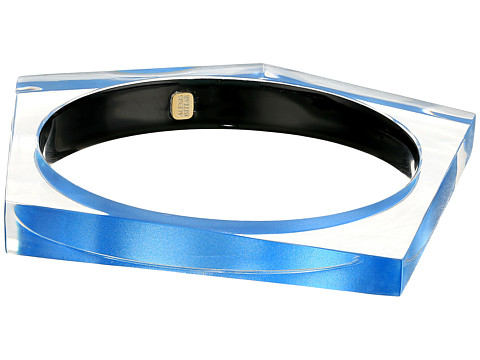 Alexis Bittar Asymmetrical Pentagon Bangle Bracelet - Horizon Blue Clear