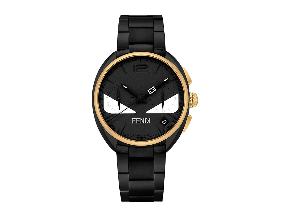 Fendi Timepieces - Momento Fendi Bugs 40mm (Yellow Gold/Black) Watches
