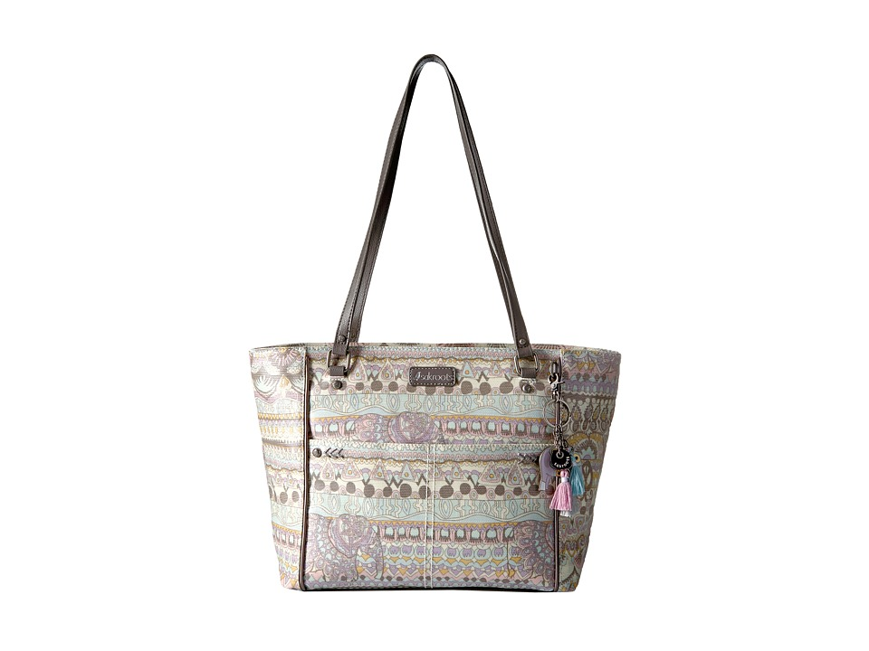Sakroots - Artist Circle Medium Satchel (Pastel One World) Tote Handbags
