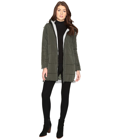Brigitte Bailey Danni Quilted Jacket with Hood - Olive