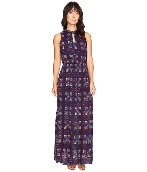 Brigitte Bailey Kaitlin Sleeveless Maxi Dress with Front Keyhole - Navy