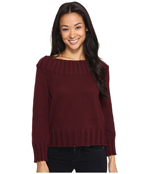 Brigitte Bailey Bradlee Wide Neck Sweater - Burgundy