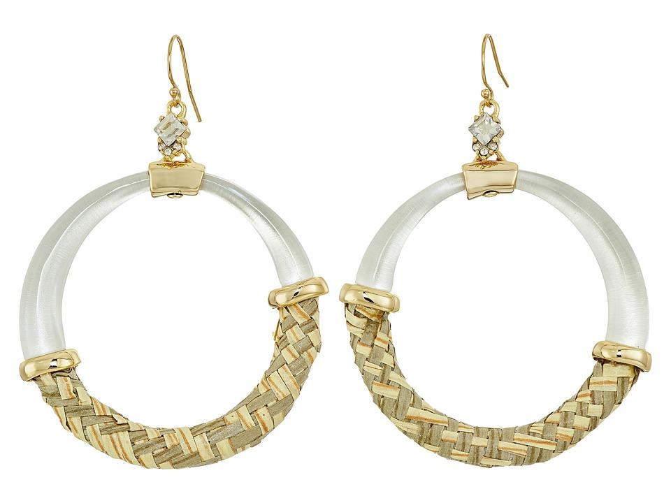 Alexis Bittar - Woven Raffia Hoop Wire Earrings